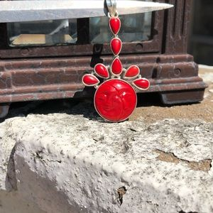 Jewelry - Face Red Sterling Silver Pendant